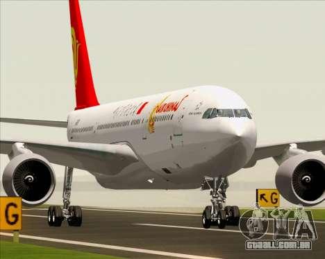 Airbus A330-200 Air China para GTA San Andreas vista traseira