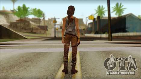 Tomb Raider Skin 12 2013 para GTA San Andreas segunda tela