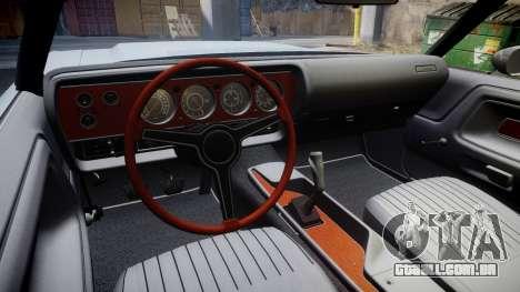 Dodge Challenger 1971 v2.2 PJ10 para GTA 4 vista de volta