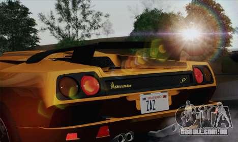 Lamborghini Diablo SV 1995 (HQLM) para GTA San Andreas vista traseira