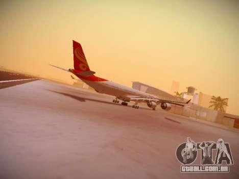 Airbus A340-600 Hainan Airlines para GTA San Andreas vista traseira