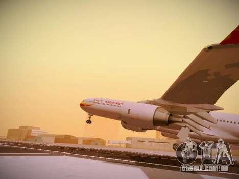 Airbus A340-600 Hainan Airlines para GTA San Andreas vista inferior