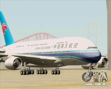 Airbus A380-841 China Southern Airlines para GTA San Andreas esquerda vista