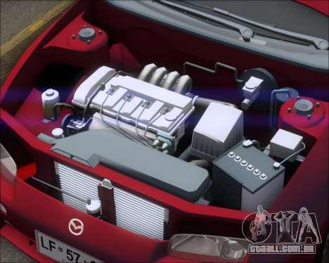 Mazda 323F 1995 para GTA San Andreas vista traseira