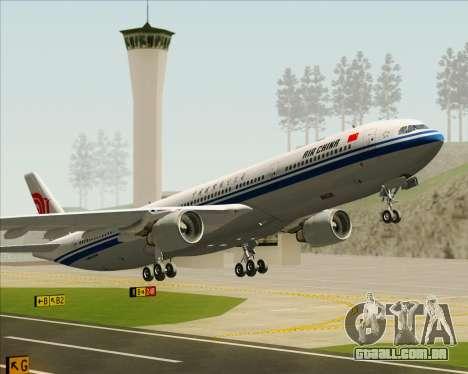Airbus A330-300 Air China para as rodas de GTA San Andreas