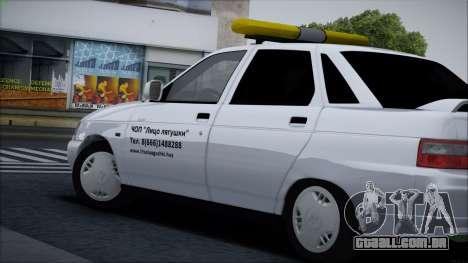 VAZ 2110 Cara de Sapo para GTA San Andreas vista traseira