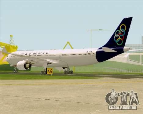 Airbus A330-300 Olympic Airlines para GTA San Andreas vista direita