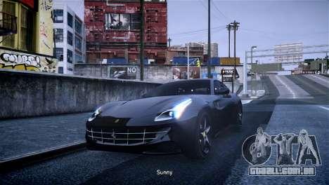 Ferrari FF para GTA 4 esquerda vista