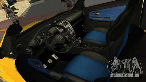 Subaru Impreza WRX STI 2006 Type 4 para GTA Vice City vista direita