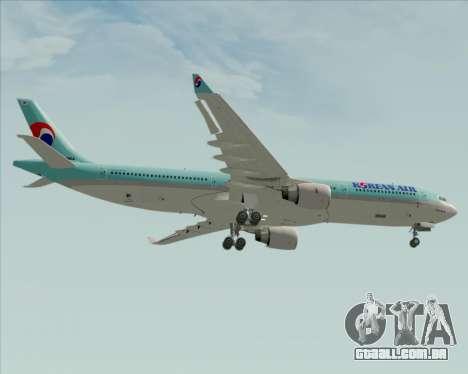 Airbus A330-300 Korean Air para GTA San Andreas vista inferior