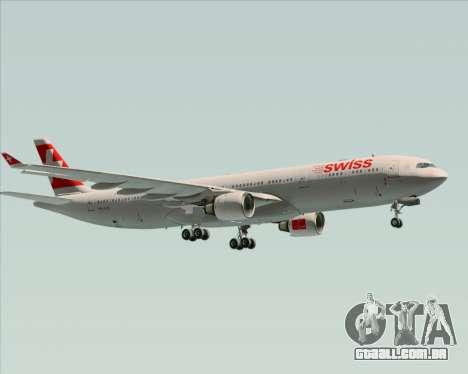 Airbus A330-300 Swiss International Air Lines para GTA San Andreas vista traseira