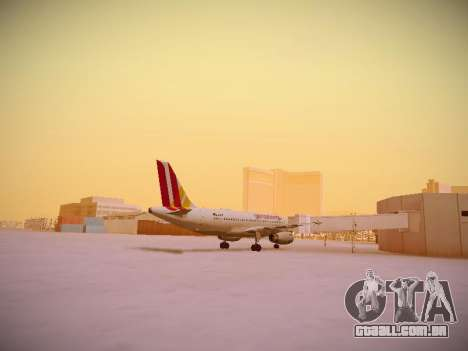 Airbus A319-132 Germanwings para GTA San Andreas vista direita