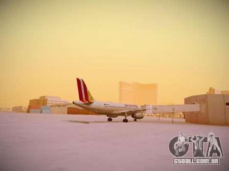 Airbus A319-132 Germanwings para GTA San Andreas vista direita