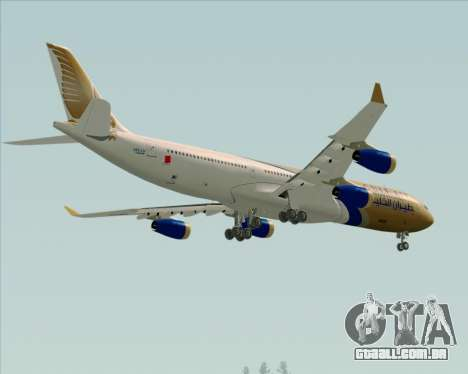 Airbus A340-313 Gulf Air para GTA San Andreas vista superior
