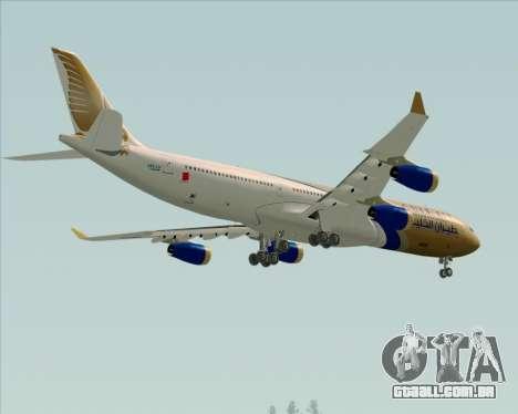 Airbus A340-313 Gulf Air para GTA San Andreas vista superior