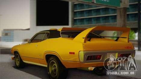 Plymouth GTX Tuned 1972 v2.3 para GTA San Andreas esquerda vista