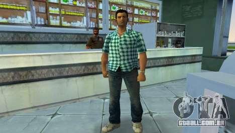Kockas polo - vilagoskek T-Shirt para GTA Vice City segunda tela
