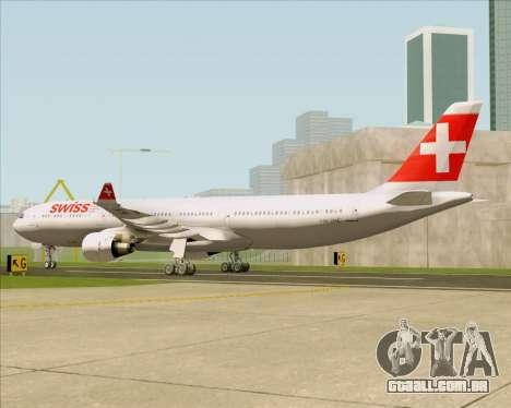 Airbus A330-300 Swiss International Air Lines para GTA San Andreas vista direita