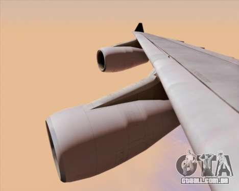 Airbus A340-313 Air Canada para GTA San Andreas vista inferior