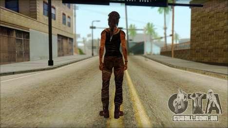 Tomb Raider Skin 13 2013 para GTA San Andreas segunda tela