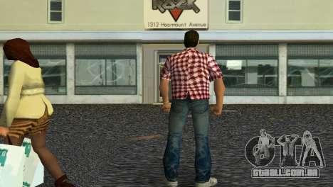 Kockas polo - piros T-Shirt para GTA Vice City segunda tela