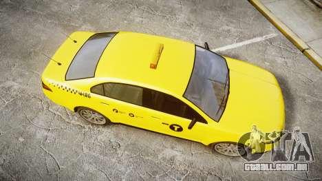 GTA V Vapid Taurus Taxi NYC para GTA 4 vista direita