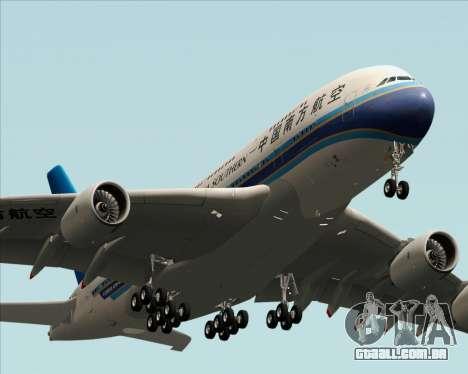 Airbus A380-841 China Southern Airlines para GTA San Andreas vista interior