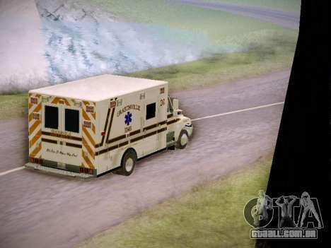 Pierce Commercial Grasonville Ambulance para vista lateral GTA San Andreas