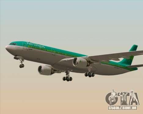 Airbus A330-300 Aer Lingus para GTA San Andreas vista traseira