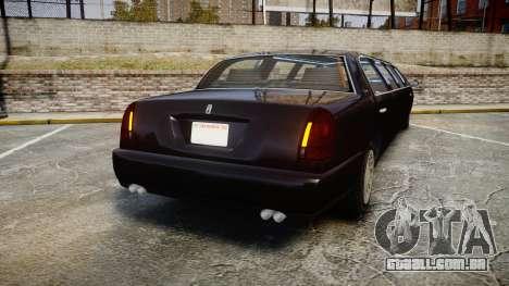 GTA V Albany Washington Limousine para GTA 4 traseira esquerda vista