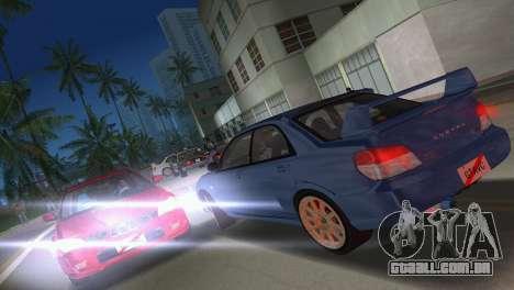 Subaru Impreza WRX STI 2006 Type 1 para GTA Vice City vista lateral