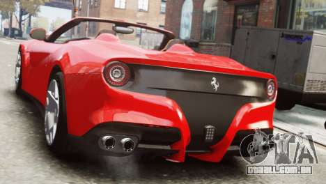 Ferrari F12 Roadster para GTA 4 esquerda vista