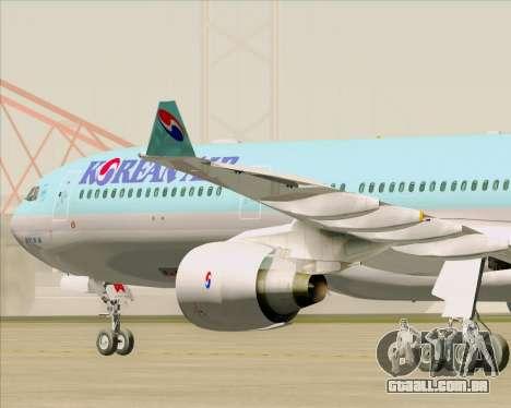 Airbus A330-300 Korean Air para GTA San Andreas vista interior