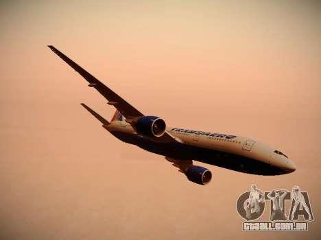 Boeing 777-212ER Transaero Airlines para o motor de GTA San Andreas