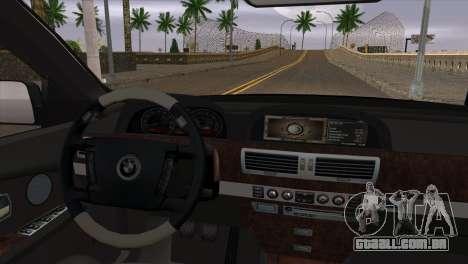 BMW E66 7-Series Limousine para GTA San Andreas vista direita