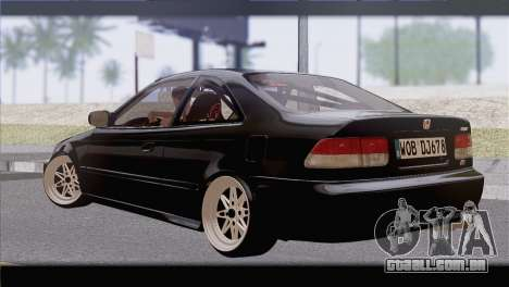 Honda Civic EM1 para GTA San Andreas esquerda vista