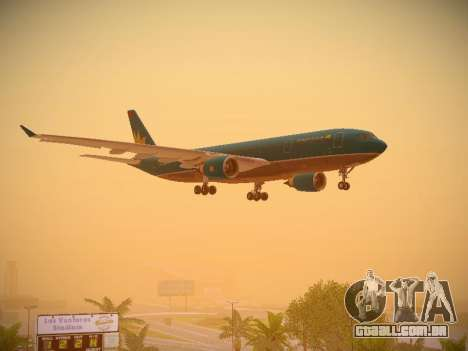 Airbus A330-200 Vietnam Airlines para GTA San Andreas vista inferior