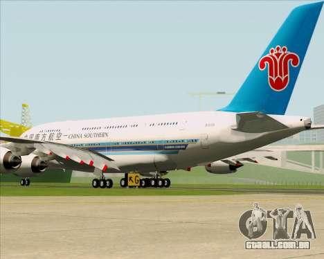 Airbus A380-841 China Southern Airlines para GTA San Andreas vista direita