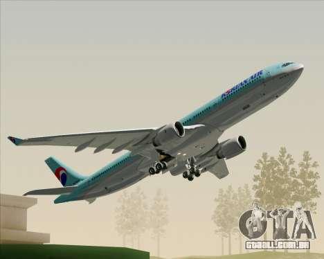 Airbus A330-300 Korean Air para o motor de GTA San Andreas