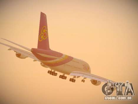 Airbus A380-800 Thai Airways International para GTA San Andreas vista superior