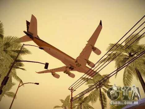 Airbus A340-600 Singapore Airlines para GTA San Andreas vista interior
