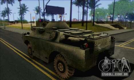BRDM-2 from ArmA Armed Assault para GTA San Andreas esquerda vista