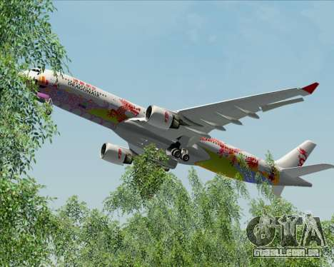 Airbus A330-300 Dragonair (20th Year Livery) para GTA San Andreas vista inferior