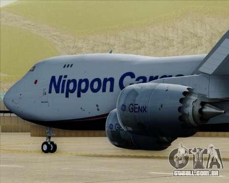 Boeing 747-8 Cargo Nippon Cargo Airlines para o motor de GTA San Andreas