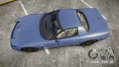 Chevrolet Corvette Z06 (C5) 2002 v2.0 para GTA 4 vista direita
