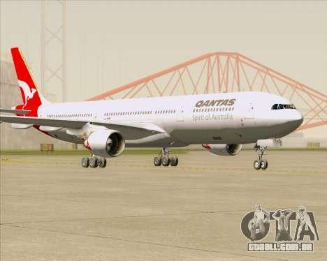 Airbus A330-300 Qantas para GTA San Andreas traseira esquerda vista