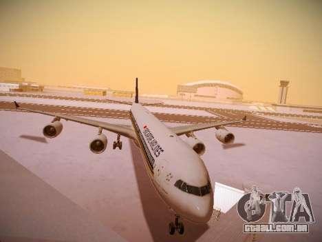 Airbus A340-600 Singapore Airlines para GTA San Andreas esquerda vista