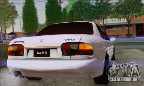 Proton Wira Official Malaysian Limousine para GTA San Andreas vista direita
