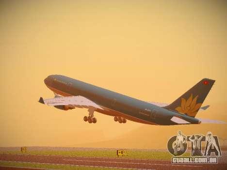 Airbus A330-200 Vietnam Airlines para GTA San Andreas vista traseira