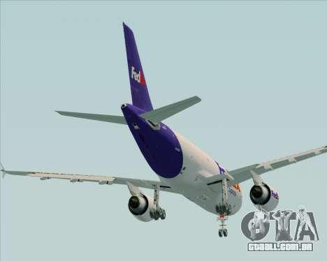 Airbus A310-300 Federal Express para GTA San Andreas vista superior